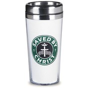 Jesus Saves Travel Coffee Tumbler