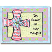 Pink Cross with Flower Magic Sticker