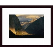 Barewalls Framed Art Print: Sunlight Shines On Yosemite Valley by Phil Schermeister Wholesale Bulk