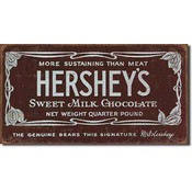 Tin Sign : Hershey&#39;s Bar