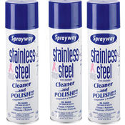 Sprayway Stainless Steel Cleaner 3/15oz Cans