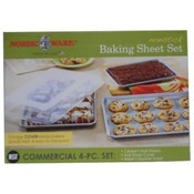 Nordic Ware Baking Sheet Non Stick Commercial 4PC
