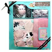 Little Miracles Baby Gift Set 3Pc Set Zebra Character