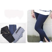 High Quality Zipper Ankle Legging - Navy