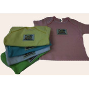 Assorted Baby Tees with Logo Patch- 3-6 Months