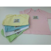 Assorted Baby Tees with Logo Patch- 6-12 Months