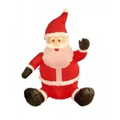 Four Foot Christmas Inflatable Sitting Santa Claus
