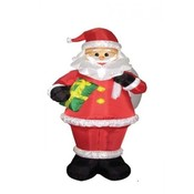 Eight Foot Christmas Inflatable Santa Claus Holdin