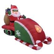 Eight Foot Long Christmas Inflatable Santa Claus D