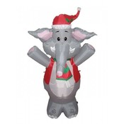 Four Foot Christmas Blow up Cute Elephant Yard Dec