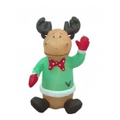 Four Foot Christmas Blow up Cute Sitting Reindeer