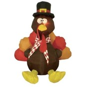 Six Foot Thanksgiving Inflatable Turkey