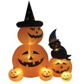 Eight Foot Animated Halloween Inflatable Pumpkins