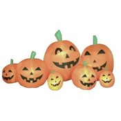 Eight Foot Wide Halloween Inflatable Pumpkins