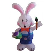 Four Foot Easter Inflatable Rabbit Holding Color P