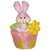 Four Foot Easter Inflatable Rabbit on Flowerpot