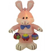 Four Foot Easter Inflatable Rabbit with Color Eggs