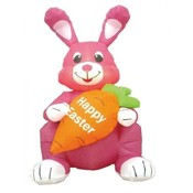 Four Foot Easter Inflatable Sitting Rabbit Holding