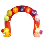 Nine Foot Easter Inflatable Archway with Rabbit an