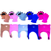 Infant & Toddler Mittens and Chinstrap Hat Asst