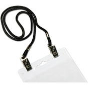 Dual Clip Neck Cord-Black