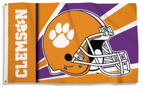 Clemson Tigers 3 Ft. X 5 Ft. Flag withGrommets - HELMET Design [2182881]