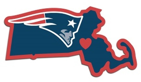 New England Patriots Home State DECAL (2183460)
