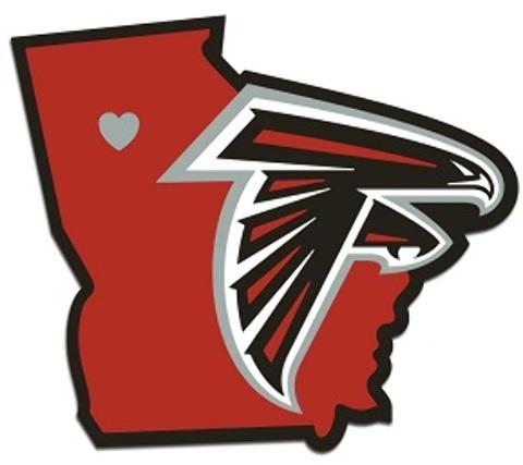 Atlanta Falcons Home State DECAL (2183237)