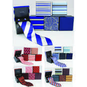 100% Silk Ties w/ Matching Cuff Links, Reds, Blues, Golds