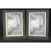 "Glass Frame 4 X 6""- Gold Or Silver Trim"
