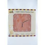Indoor Outdoor Clock 12.75'- Terracotta Golf Wholesale Bulk