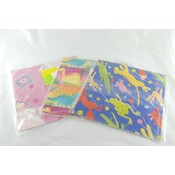 Gift Flat Wrap 2 Sheets- Juvenile Assorted