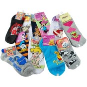 Girls Socks 1 Pair- Assorted Sizes And Characters