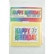 Note Card Set 10 Pack- Birthday Wholesale Bulk