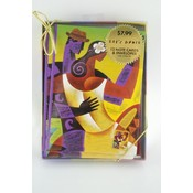 Note Card Set 12 Pack- Lets Dance