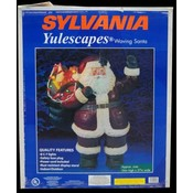 Lighted Waving Santa 34""