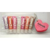 b138- 7 pk mini lip gloss tubes/ glitter