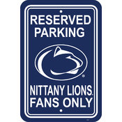 "Penn State Nittany Lions-12"" X 18"" Plastic Parking Sign"