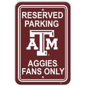 Texas A&amp;M Aggies-12&quot; X 18&quot; Plastic Parking Sign