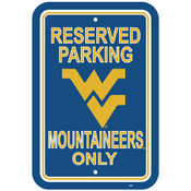 "West Virginia Mountaineers-12"" X 18"" Plastic Parking Sign"