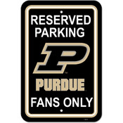 "Purdue Boilermakers-12"" X 18"" Plastic Parking Sign"