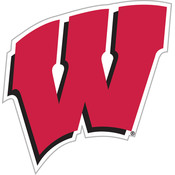 "Wisconsin Badgers-12"" Vinyl Magnet"