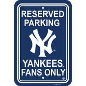 New York Yankees Plastic Parking Sign