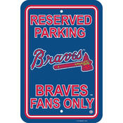 Atlanta Braves Plastic Parking Sign