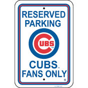 Chicago Cubs Plastic Parking Sign