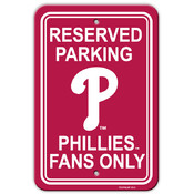Philadelphia Phillies Plastic Parking Sign