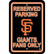 San Francisco Giants Plastic Parking Sign