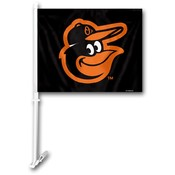 Baltimore Orioles Car Flag w/Wall Bracket