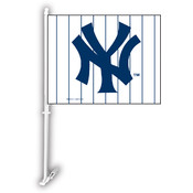 New York Yankees Car Flag w/Wall Bracket