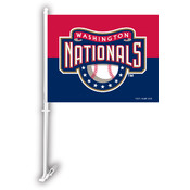 Washington Nationals Car Flag w/Wall Bracket